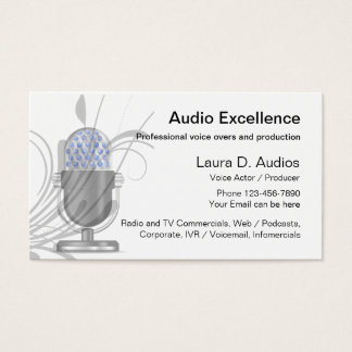 11 Voice Over Business Cards and Voice Over Business Card
