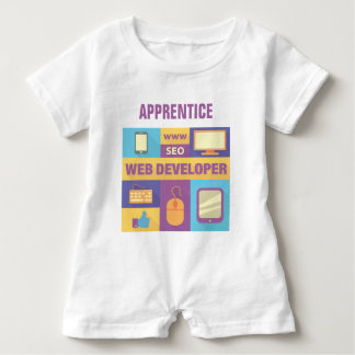 Professional Web Developer Iconic Design Baby Bodysuit