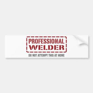 Professional Welder Bumper Sticker