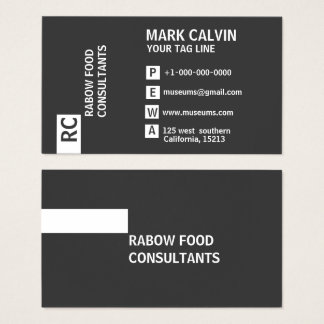 Professional White And Black Business Cards