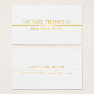 Professional White and Gold Business Card
