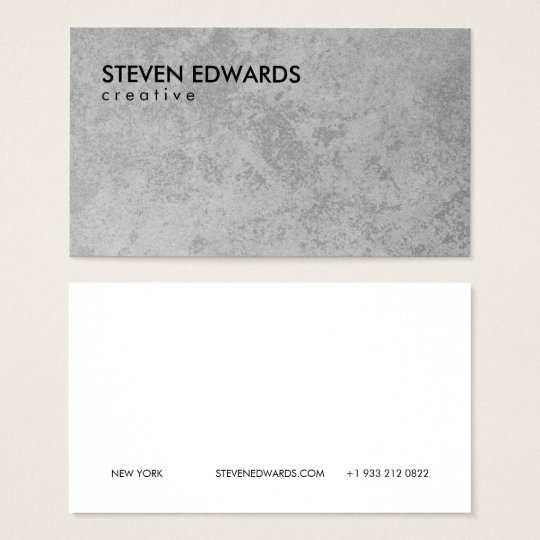 Professional white modern grey concrete minimalist business card