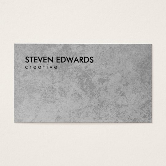 Professional white modern grey concrete minimalist business card