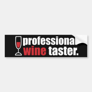 Professional Wine Taster Bumper Sticker