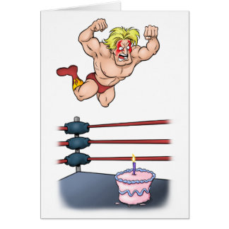 Professional Wrestler Slammin' Birthday Card