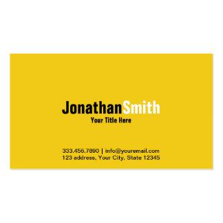 Professional Yellow Black Plain Business Card