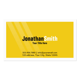 Professional Yellow Black With Stripes and Frame Pack Of Standard Business Cards