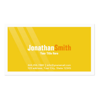 Professional Yellow Orange With Stripes and Frame Pack Of Standard Business Cards