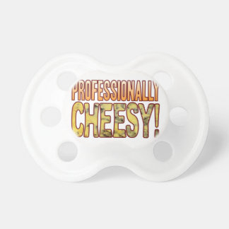 Professionally Blue Cheesy Baby Pacifier