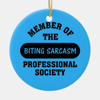 Professionally trained to make sarcastic comments christmas ornament
