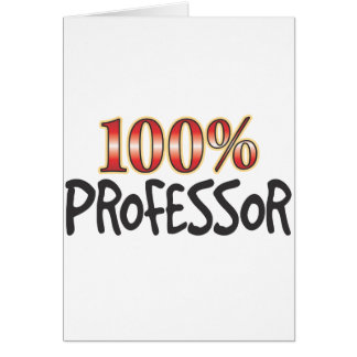 Professor 100 Percent Card