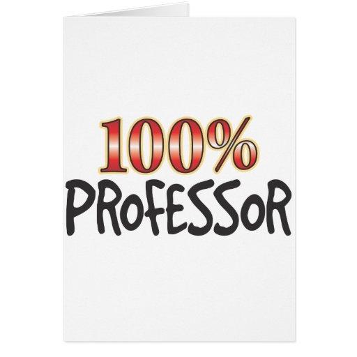 Professor 100 Percent Greeting Cards
