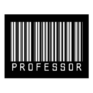 Professor Bar Code Postcard