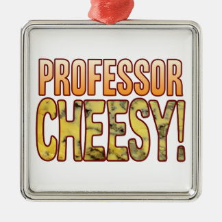 Professor Blue Cheesy Silver-Colored Square Decoration