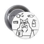 Professor Cat Pinback Button