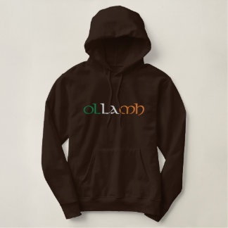 """Professor"" Irish Gaelic Flag Colors Embroidered Hoodie"