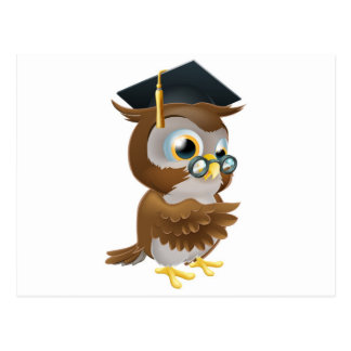 Professor owl postcard