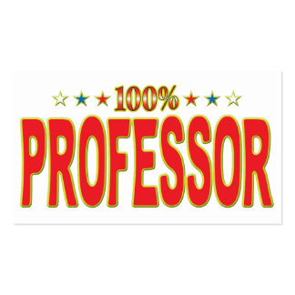 Professor Star Tag Pack Of Standard Business Cards