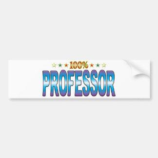Professor Star Tag v2 Bumper Sticker