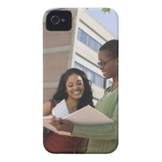 Professor with student iPhone 4 Case-Mate case