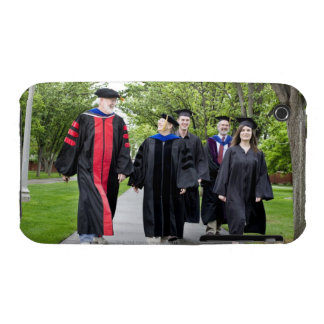 Professors and students walking to graduation iPhone 3 Case-Mate cases