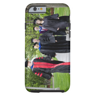 Professors and students walking to graduation tough iPhone 6 case