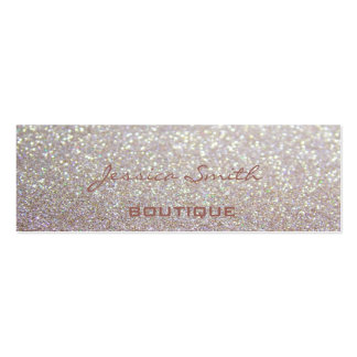 Proffesional glamorous elegant glittery Double-Sided mini business cards (Pack of 20)