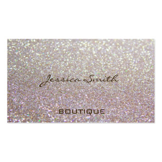 Proffesional glamorous elegant glittery pack of standard business cards