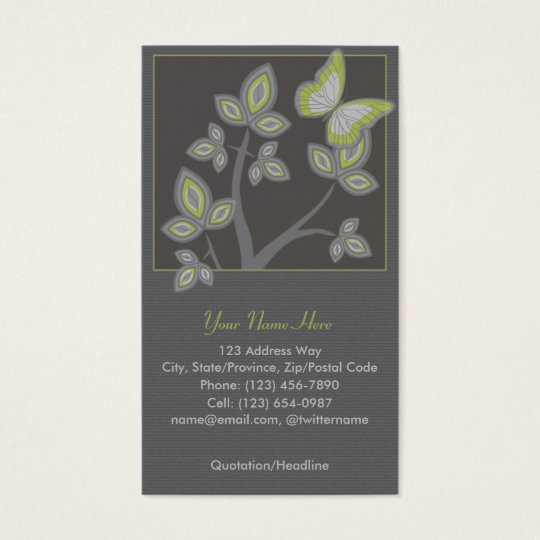 Profile Business Card: Tree with Butterfly Business Card