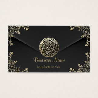Profile Business Sepia Black Velvet Look Business Card