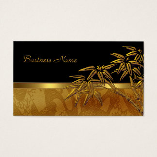 Profile Card Asian Black Gold Bamboo