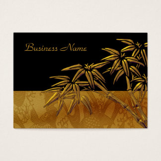 Profile Card Asian Black Gold Bamboo