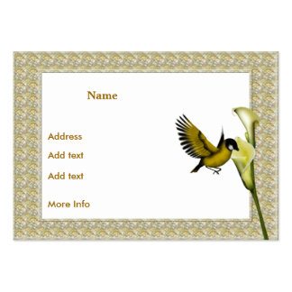 Profile Card Birds and Flowers Frame Pack Of Chubby Business Cards
