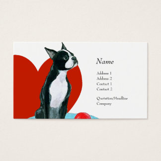 Profile Card - Boston Terrier