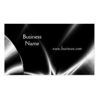 Profile Card Business Abstract Silver Black Business Cards