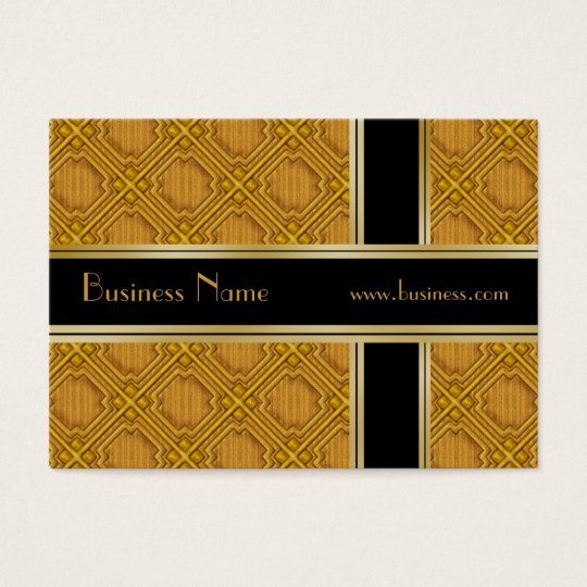 Profile Card Business Black Gold Embossed 2