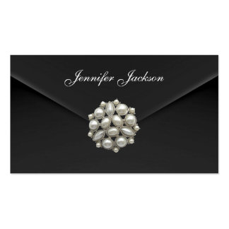 Profile Card Business Black Velvet Pearl Jewel Pack Of Standard Business Cards
