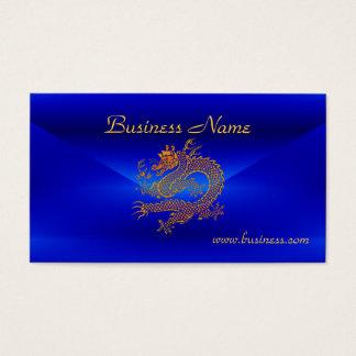 Profile Card Business Blue Gold Dragon 2