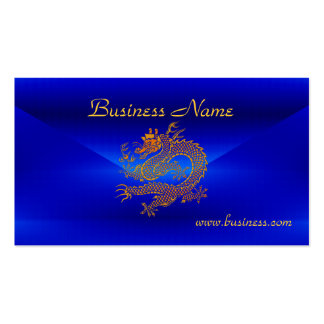 Profile Card Business Blue Gold Dragon 2 Pack Of Standard Business Cards