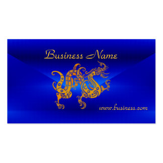Profile Card Business Blue Gold Dragon Pack Of Standard Business Cards