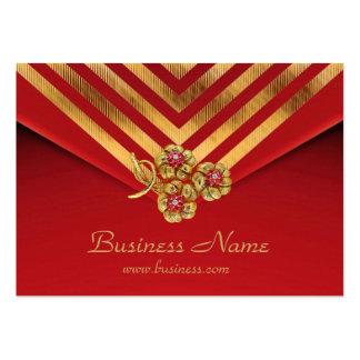 Profile Card Business Gold Stripe Red Velvet Jewel Business Cards