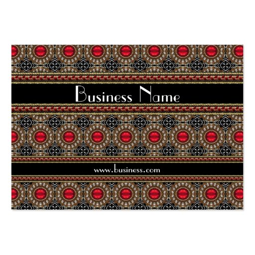 Profile Card Business Red Jewel Brooch (19) Business Card Templates