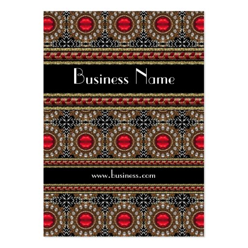 Profile Card Business Red Jewel Brooch (19) Business Card