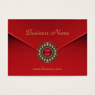 Profile Card Business Red Look Image