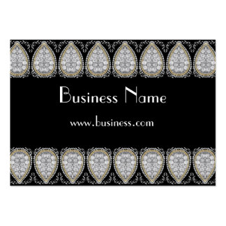Profile Card Business Red Silver Jewel Trim Business Card