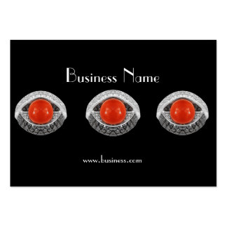 Profile Card Business Red Silver Jewels (036) Business Card