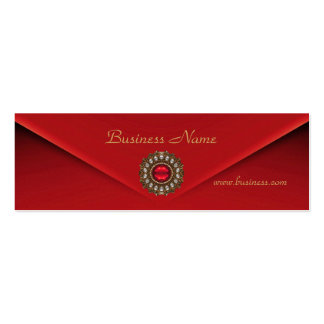 Profile Card Business Red Velvet Jewel Business Card Template
