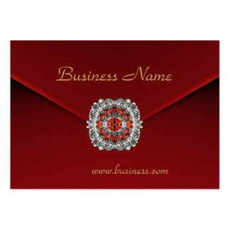Profile Card Business Red Velvet Look Image Pack Of Chubby Business Cards