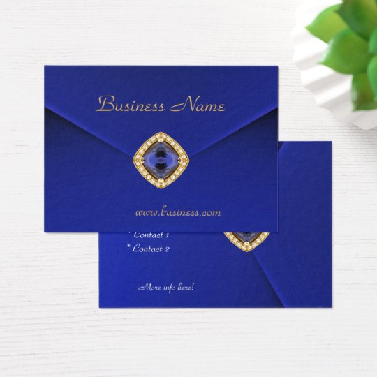 Profile Card Business Rich Blue Velvet Look