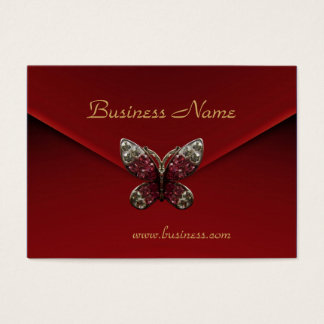 Profile Card Business Rich Red Velvet Butterfly